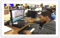 photo of student using money island